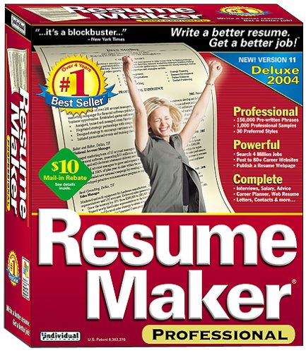 amazoncom resumemaker professional 11 old version - Resume Maker