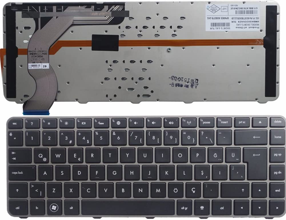 KEYSHEN Laptop Notebook Replacement Keyboard for HP Envy 14-1200 14t-1000 1100 UI Layout