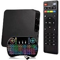 Kit Aparelho Conversor Smart Box Tv 16Gb + Teclado Iluminado Android Infokit 4K 3D HD Wifi