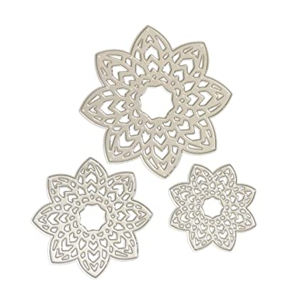 Amazon hibye arrow flower diy paper cutting dies handmade hibye arrow flower diy paper cutting dies handmade stencils template embossing for card scrapbooking craft mightylinksfo