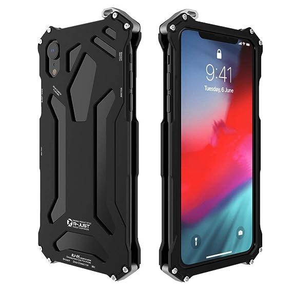 premium selection d024c eda79 iPhone XR Case, iPhone XS Case,iPhone XS Max Case,Hybrid Armor Alloy  Aluminum Metal Bumper case Military Bumper Heavy Duty Grade Drop Tested  Shell ...