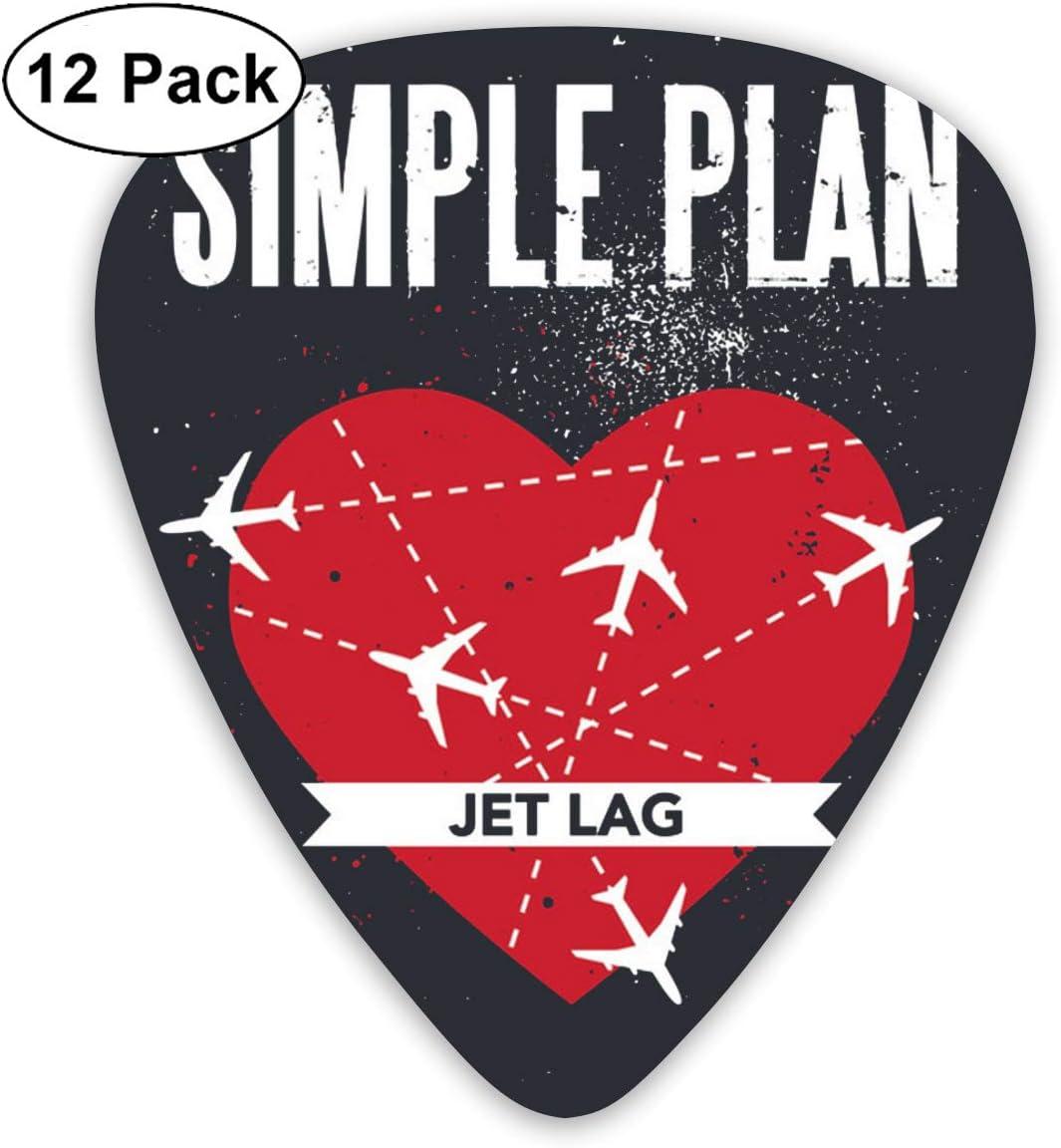 Efgaf Fashion Simple Plan Jet Lag Púas De Guitarra 12 Unidades Para Guitarra Eléctrica Guitarra Acústica Mandolina Y Bajo De Guitarra Musical Instruments