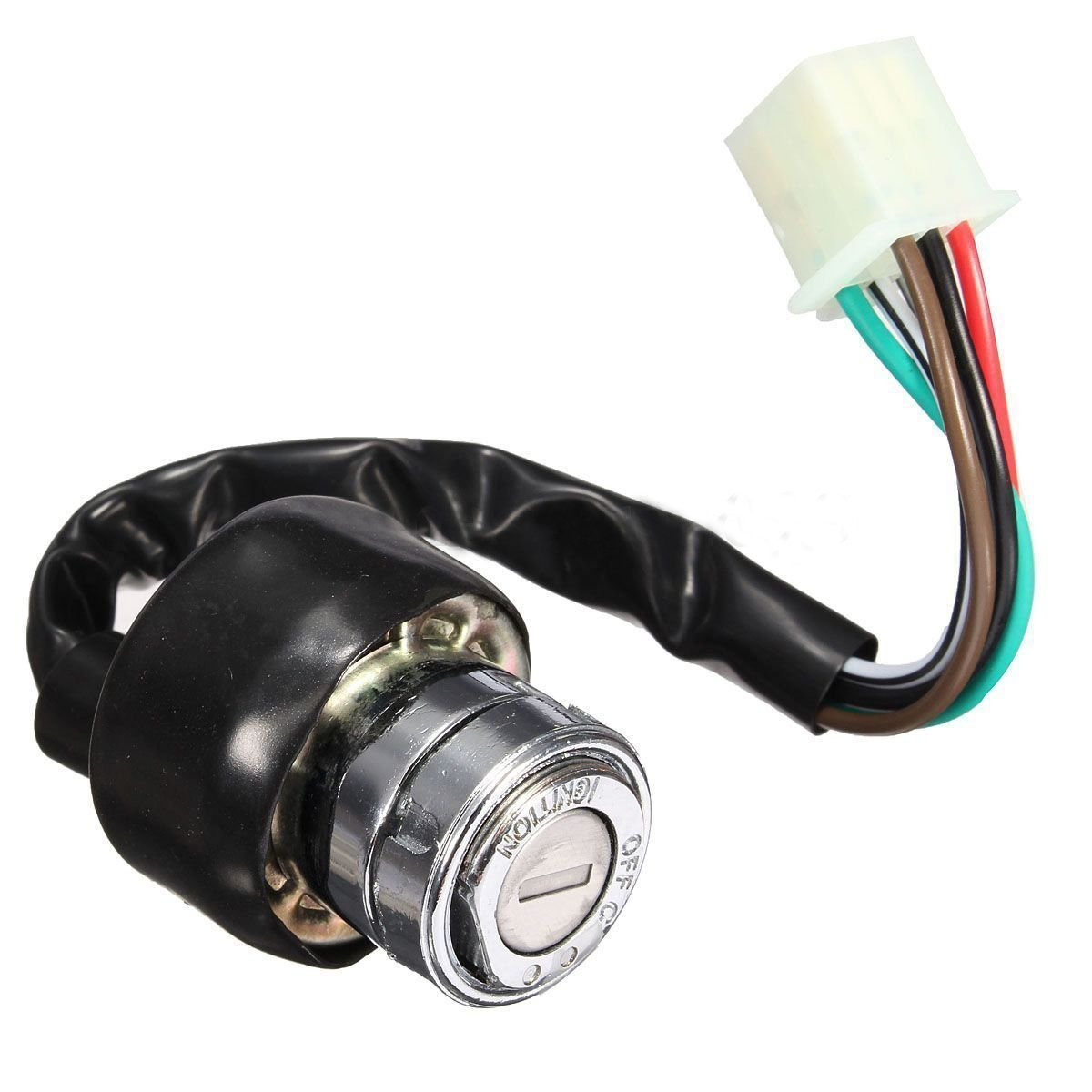 Ignition Switch - TOOGOO(R) Universal 3 Position Car Motorcycle Scooter Go-Kart 6 Wire Ignition Switch 2 Key SPAGT45274