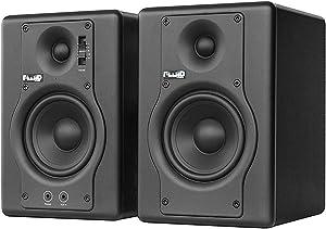 Fluid Audio F4 2-Way 4 Inch Active Studio Monitor, Black, Pair