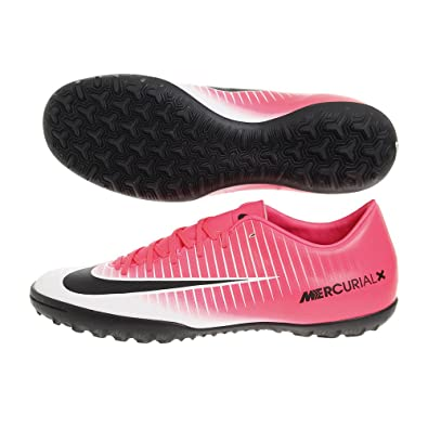 competitive price 09749 33848 Nike MercurialX Victory VI TF Mens Football Boots 831968 Soccer Cleats (US  10, Racer Pink White Black 601)