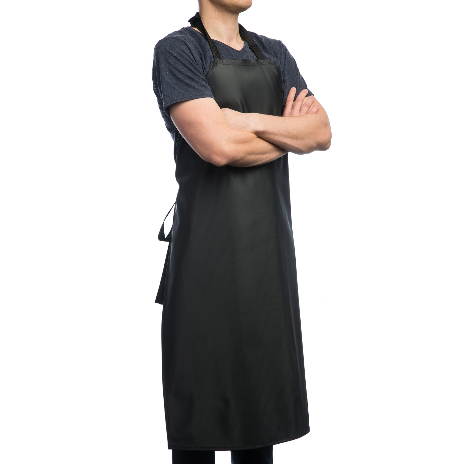 Waterproof Rubber Vinyl Apron - Upgraded 2018 Heavy Duty Model - Best for Staying Dry When Dishwashing, Lab Work, Butcher, Dog Grooming, Cleaning Fish, Projects - Industrial Chemical Resistant Plastic