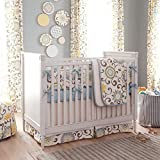 Carousel Designs Spa Pom Pon Play 3-Piece Crib Bedding Set