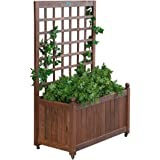 Jordan Manufacturing Wood Planter Box with Trellis