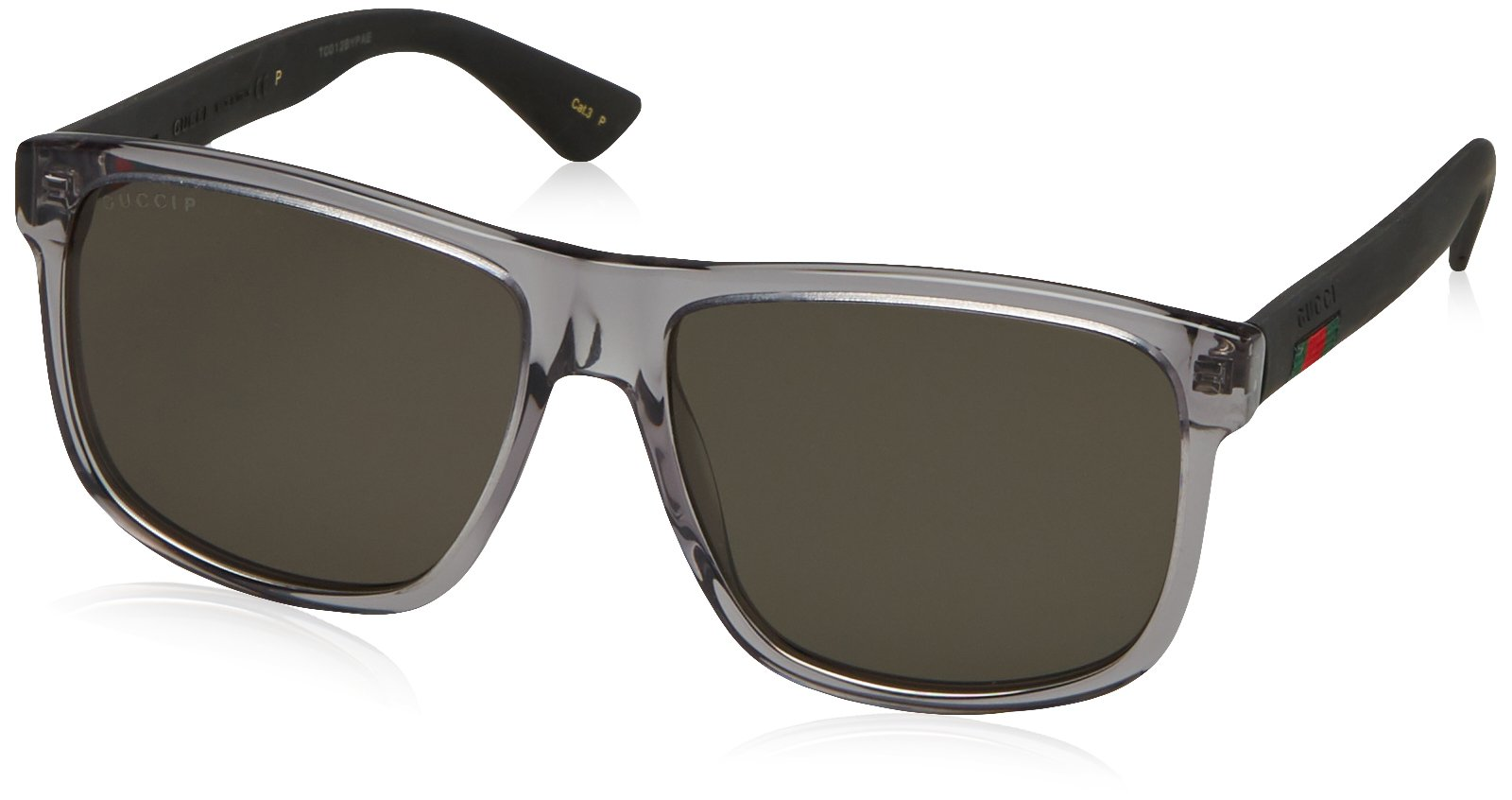 Gucci GG0010S-004 Rectangular / Square Sunglasses Grey/Grey Lens by Gucci
