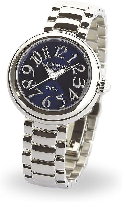 Locman italy orologio donna tutto tondo argento blu rif. 0361 0361V01-00BLNKBR0