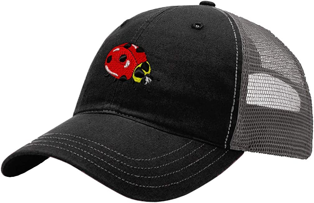 Custom Trucker Hat Richardson Ladybug Embroidery Animal Name Cotton Snaps