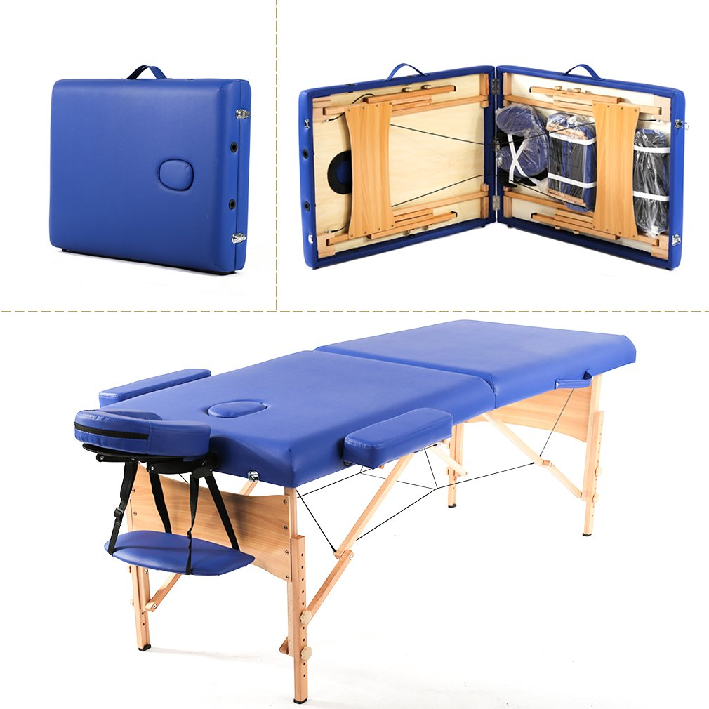 Portable Massage Table w/Free Carry Case Chair Bed Spa Facial BestMassage