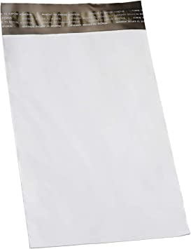 19x24 Poly Mailers Envelopes Shipping Bags White 2.5 mil Size 7 case:200