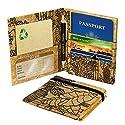 Green Banana Eco-Leather Passport Travel Wallet (Flora Black)