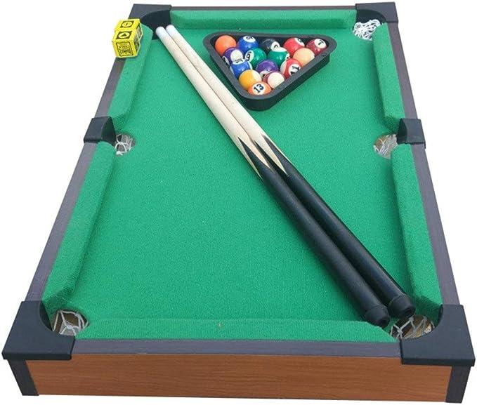 Mini billar Tablero de la mesa de billar de juguete en miniatura con la mini bolas de piscina Cue Sticks Accesorios for adultos niños Escritorio piscina miniatura Juego de mesa de mesa