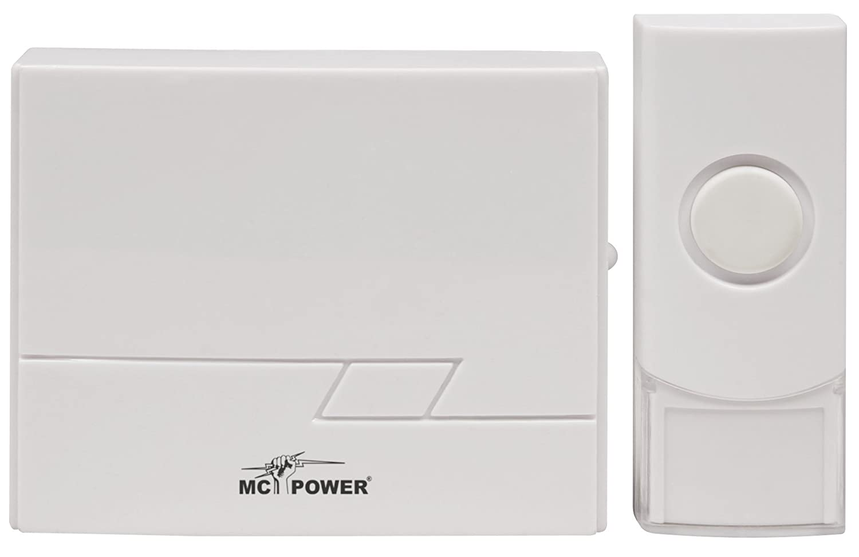 McPower 1534265 Funk-Tü rklingel DB-16 bis zu 50m, 16 Melodien, IP44 Sender ETT
