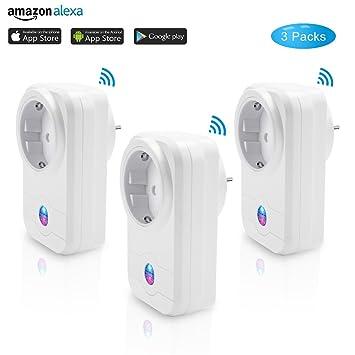 PHIFO 3 Packs Alexa Wifi Intelligenter Stecker Smart Steckdose ...
