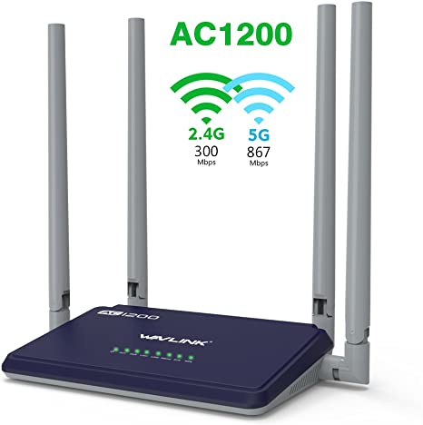 WAVLINK AC1200 Dual Band WiFi Router