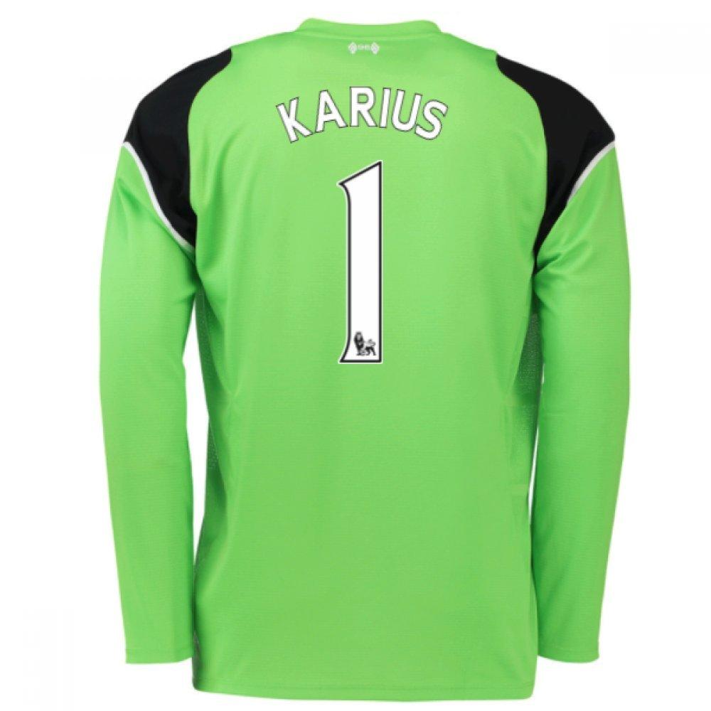 2016-17 Liverpool Home Goalkeeper Shirt (Karius 1) B077Z6NC95Green Medium 38-40\