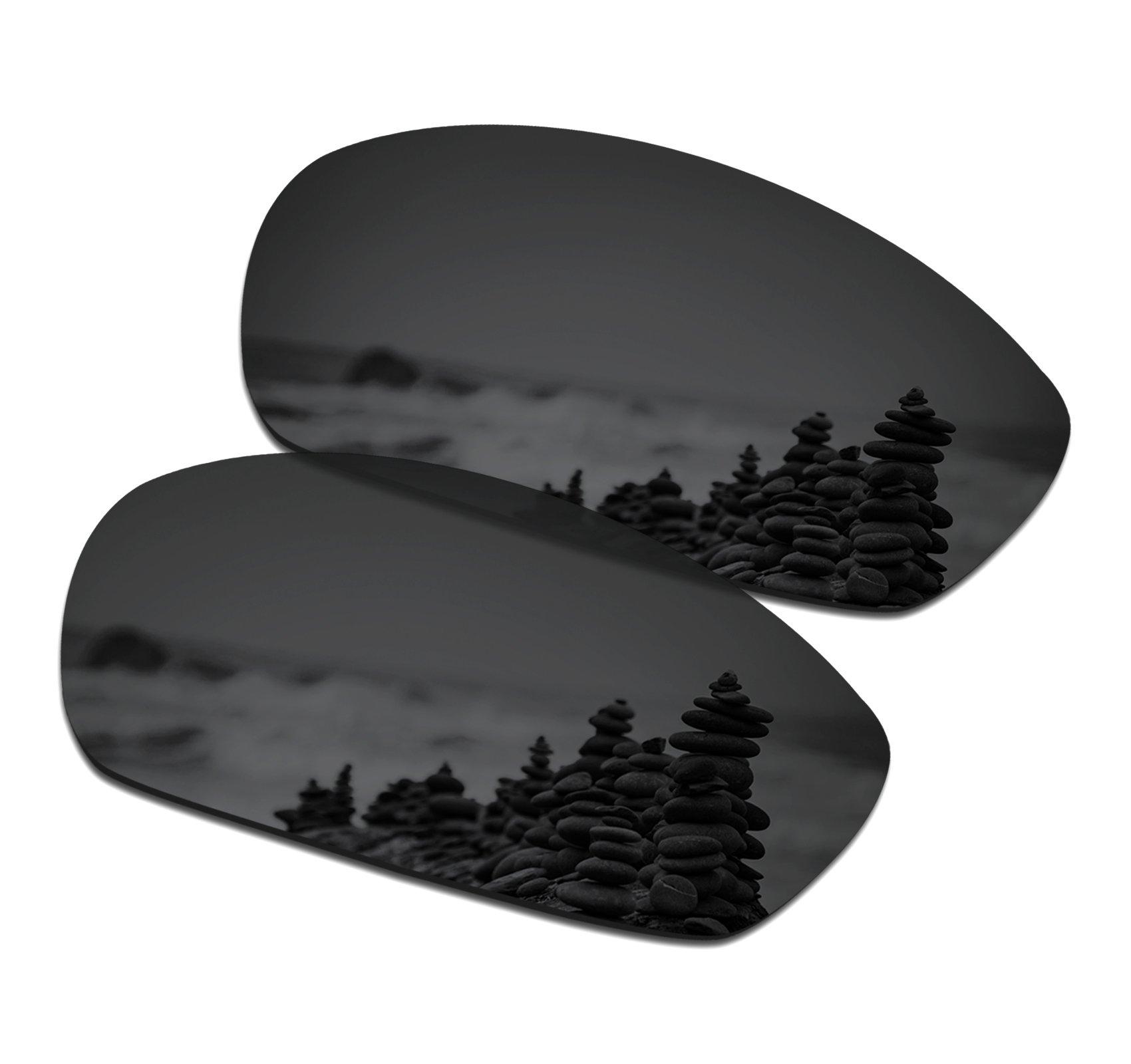 SmartVLT Men's Stealth Black Replacement Lenses for Oakley Whisker Sunglass