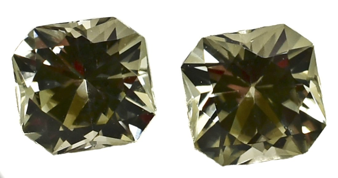 Pair of Zultanite Natural Loose Gems 0.6 Cttw 3.8mm New 2017 Cutting Cert of Auth E023