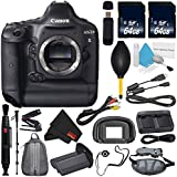 6Ave Canon EOS-1D X DSLR Camera International version (No Warranty) + Lens Pen Cleaner + MicroFiber Cloth + Battery Grip + LP-E6N Replacement Lithium Ion Battery Bundle