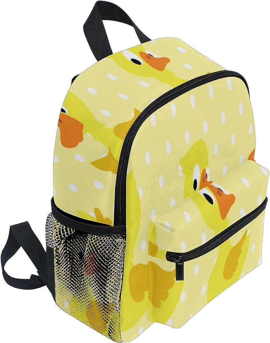 Backpack Cute Kids Backpack Pattern Duckling On Yellow Dotted Children Bag Toddler Backpack Bookbag School Bag