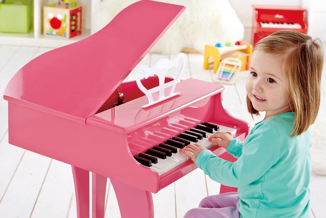 Hape Happy Grand Piano in Pink Toddler Wooden Musical Instrument by Hape (Image #4)