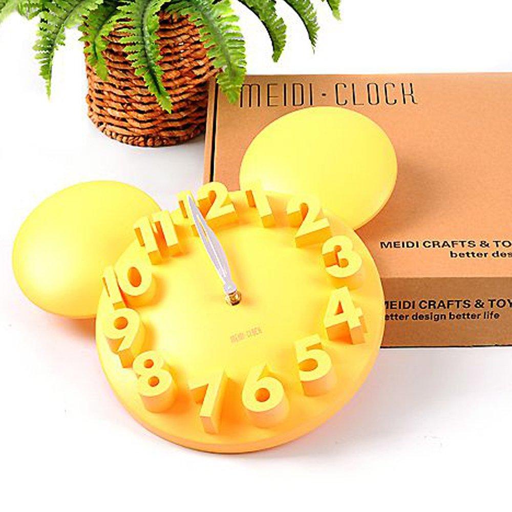 Amazon.com: LOCOMO Modern Design Mickey Mouse Big Digit 3D Wall ...