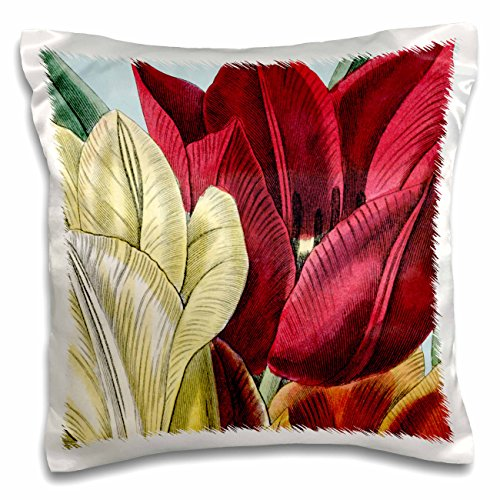 PS Vintage - Vintage Tulip Flowers - 16x16 inch Pillow Case (pc_203816_1)