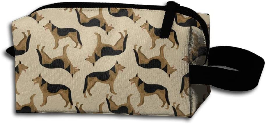 Unisex Portable Travel Wristlets Bag Brown German Shepard Dog Clutch Wallets, Change Purse,Pencil Bag,Cosmetic Bag Pouch Coin Purse Zipper Change Holder Strap