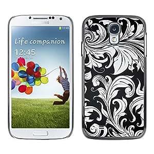 Paccase / SLIM PC / Aliminium Casa Carcasa Funda Case Cover para - Wallpaper Grey Plant Leaves Design Interior - Samsung Galaxy S4 I9500
