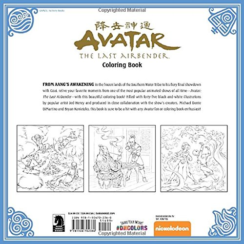 Coloring Book Artist Job : Amazon.com: avatar: the last airbender coloring book