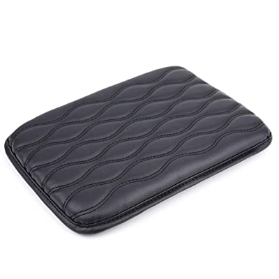 Yesland Car Universal Center Console Cover/Protector - Waterproof Black Armrest Cover/Auto Arm Rest Cushion Pads - Perfect for Most Vehicle, SUV, Truck Car Accessories: Automotive