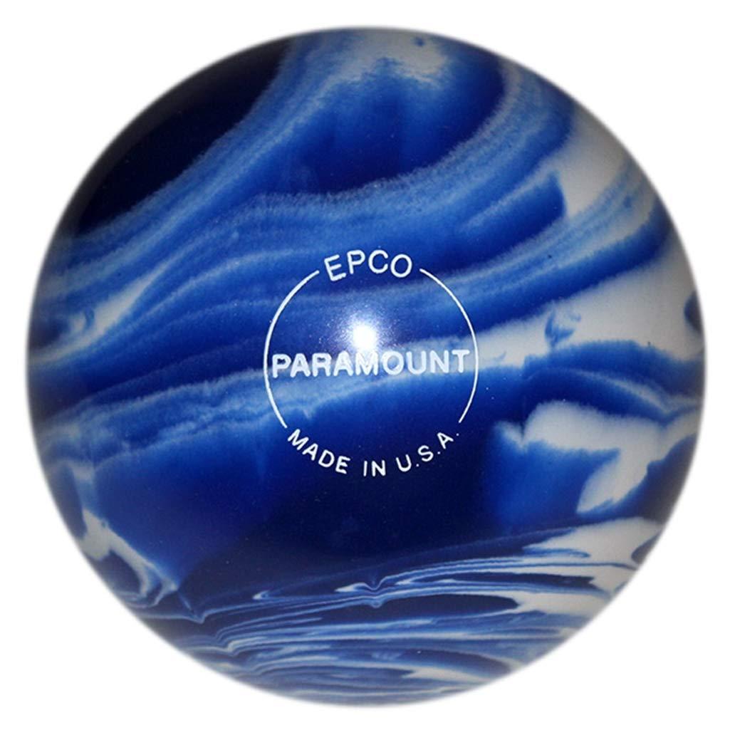 Bowlerstore Products ダックピン パラマウント マーブル加工 ボーリングボール 4 3/4インチ ブルー/ホワイト 3ポンド 8オンス B07NWY86F6