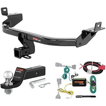 CURT Cl 3 Trailer Hitch Tow Package with 2