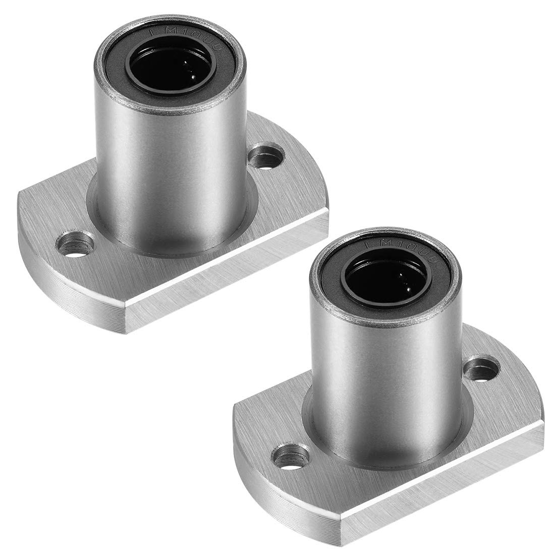 sourcing map LMH6UU Two Side Cut Flange Linear Ball Bearings, 6mm Bore Dia, 12mm OD, 19mm Length (Pack of 2)