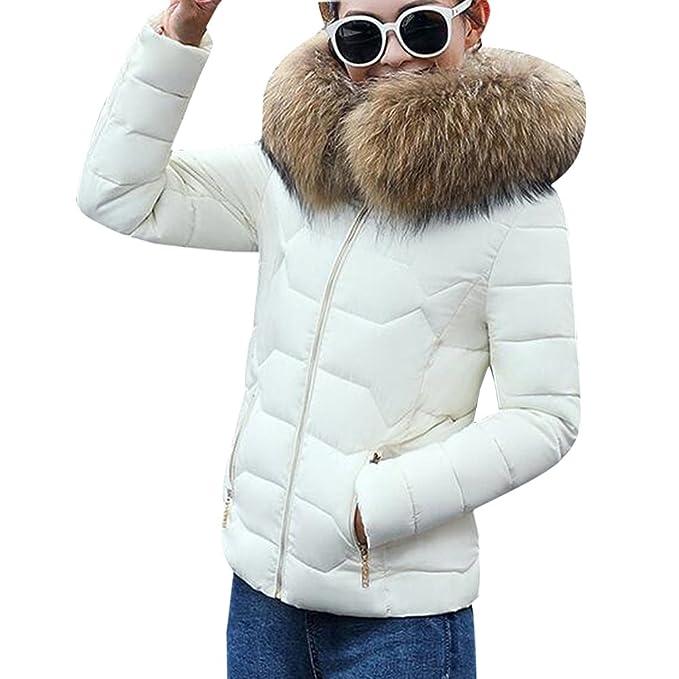 XFentech Acolchado Chaquetas Invierno Abrigo Mujer Casual Espesar Cálido: Amazon.es: Ropa y accesorios