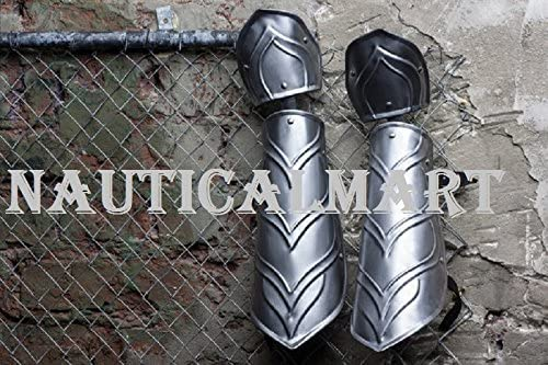Nautical-Mart LARP Armor Steel Bracers Medieval Arm Protection Pair of Armour Fantasy Costume