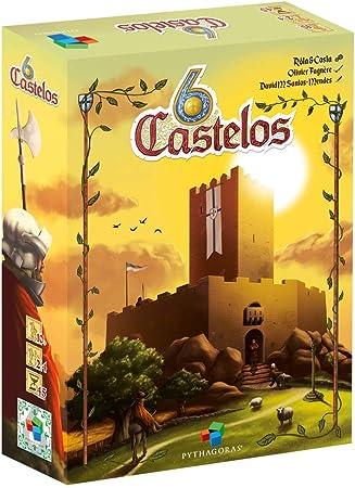 Pythagoras- 6 Castillos - Juego de Mesa - EN/SP/PT (PY0009): Amazon.es: Juguetes y juegos