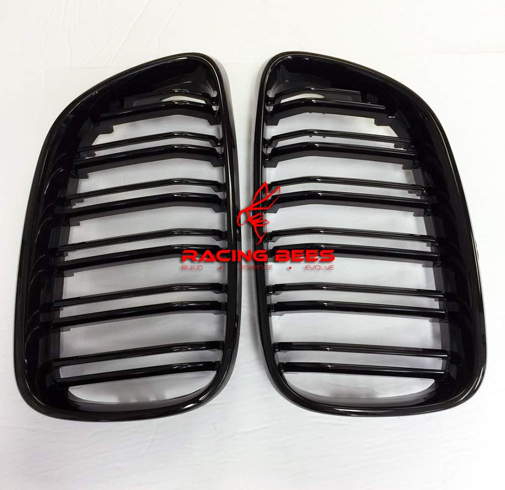 Racingbees 2014-2017 BMW 2-Series F22 F23 And F87 M2 Coupe M2 Style Kidney Grill Grille PAINTED GLOSSY BLACK Generic