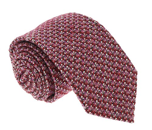 Missoni U5090 Red basketweave 100% Silk Tie for - Basketweave Tie