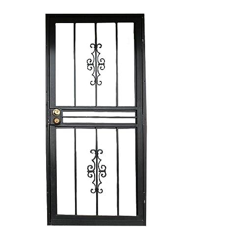 Grisham Genesis 30 in. x 80 in. Steel Black Prehung Security Door  sc 1 st  Amazon.com & Amazon.com: Grisham Genesis 30 in. x 80 in. Steel Black Prehung ...