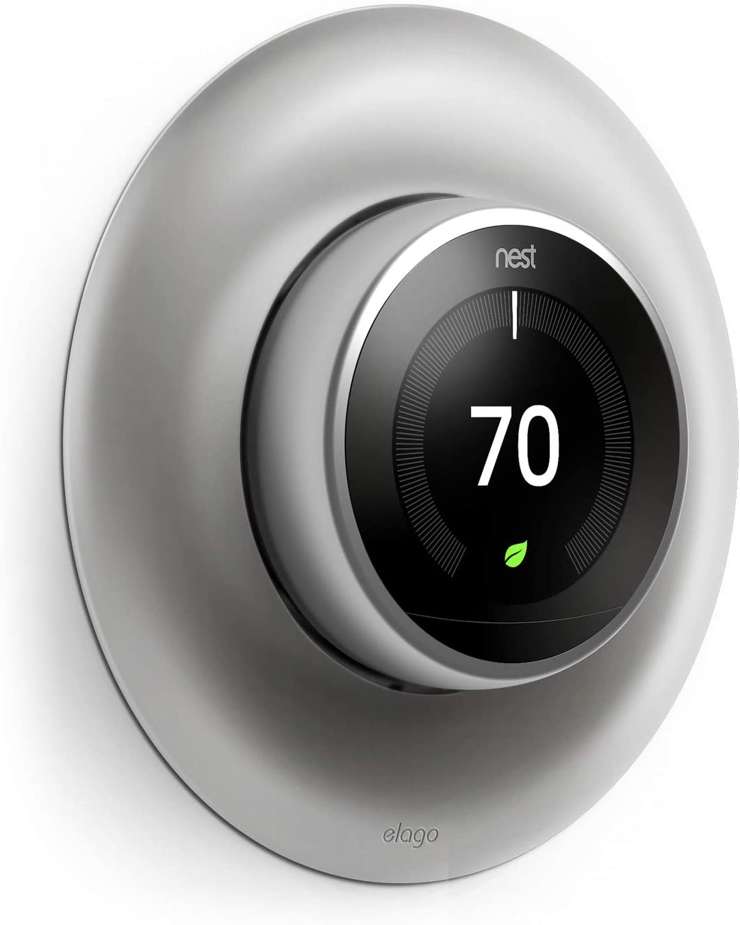 elago Wall Plate Cover Designed for Google Nest Learning Thermostat (Stainless Steel Color) - Compatible with Nest Learning Thermostat 1st/2nd/3rd Generation [US Patent Registered]