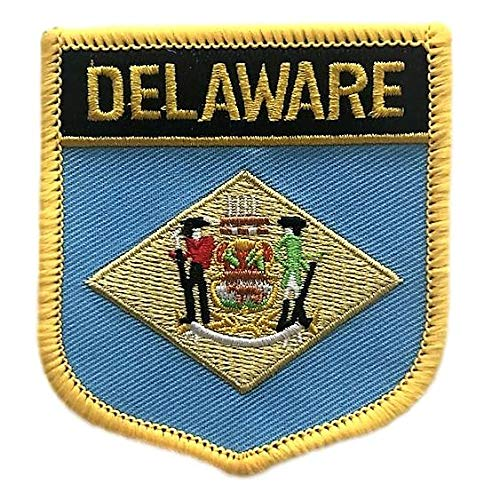 Delaware Flag Shield Patch
