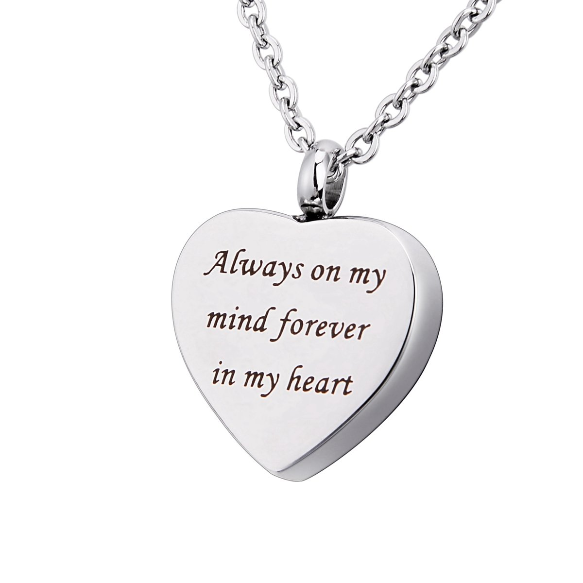 """火葬ジュエリーUrnネックレス灰"""" God Has You In His Arms I Have You In My Heart """"記念品メモリアルペンダント BYB00YE0A02T B073VGW237 Always on My Mind Forever in My Heart Always on My Mind Forever in My Heart"""