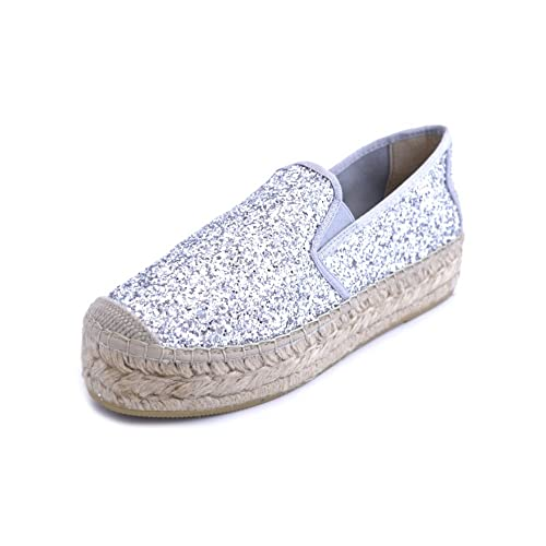 Vidorreta - Alpargatas para Mujer Plateado Plateado Plateado Size: 36: Amazon.es: Zapatos y complementos