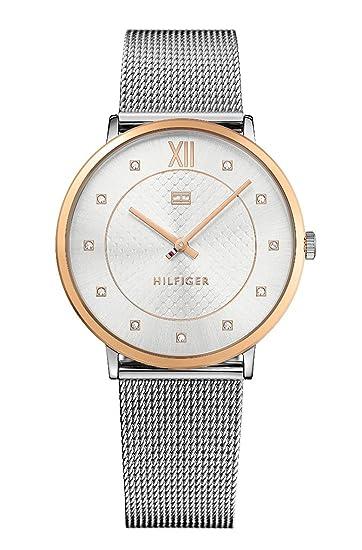 Tommy Hilfiger Reloj Análogo clásico para Mujer de Cuarzo con Correa en Acero Inoxidable 1781811