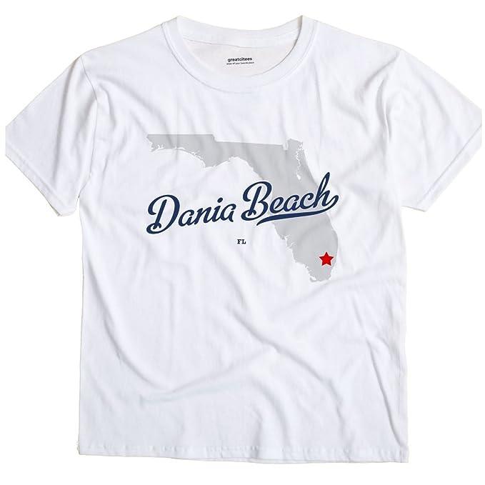 Dania Beach Florida Map.Amazon Com Dania Beach Florida Fl Map Greatcitees Unisex Souvenir T
