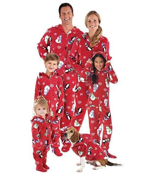Pijamas Familiares Navideñas Pijama Navidad Familia Mono ...
